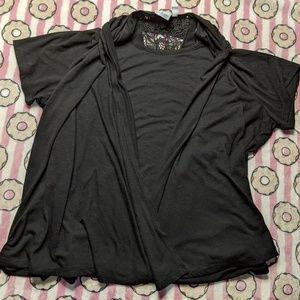 FREE Kim Rogers 2x black women's top blouse shirt